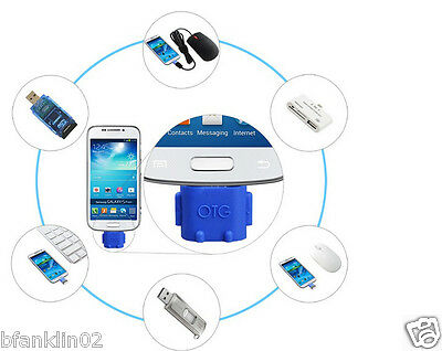 Robot Android Micro USB To USB 2.0 Converter OTG Adapter For Samsung Galaxy