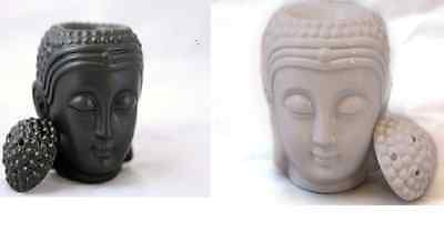Large Buddha Buddah Head Oil Burner black or White home fragrance
