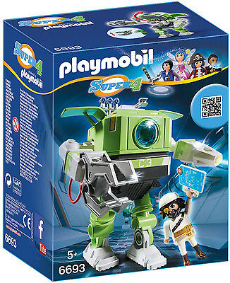 Playmobil - Super 4 - 6693 - Cleano-Roboter - NEU OVP