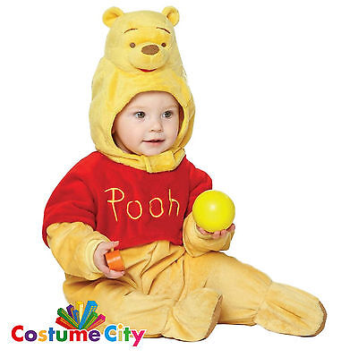 Babys Toddlers Official Winnie the Pooh Romper Fancy Dress Party Costume