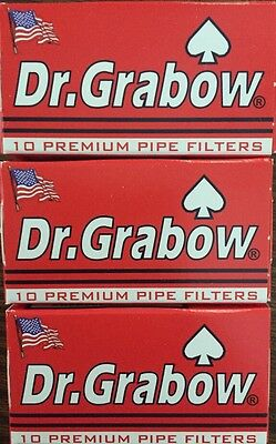 """3 Boxes Dr. Grabow Premium Pipe Filters - NEW IN BOX 30 Count 2 1/4"""""""
