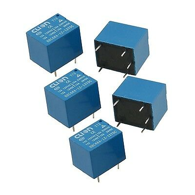 uxcell 5 Pcs DC 12V Coil SPDT 5 Pin Mini Power Relays PCB Type HHC66A-1Z-... New
