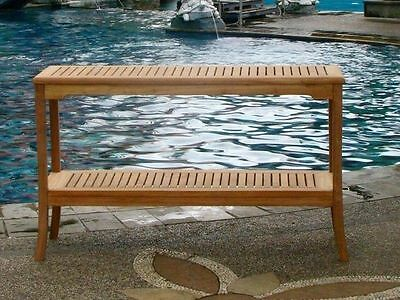 """59"""" Console Table A Grd Teakwood Garden Outdoor Dining Furniture Pool Patio Giva"""
