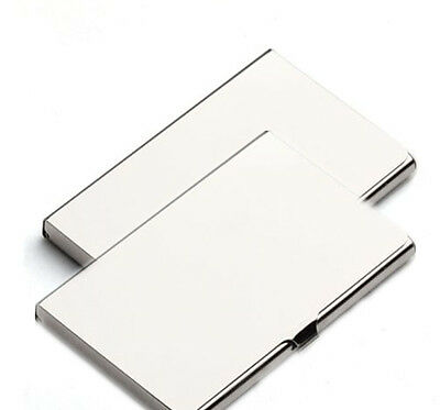 2X Waterproof Silver Pocket Name Credit ID Business Card Holder Box Metal Case B