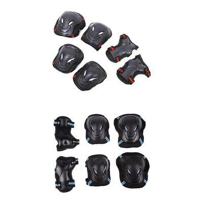 1 Set 6pcs Roller Skating Skateboard Knee Elbow Wrist Protective Guard Pad Gear