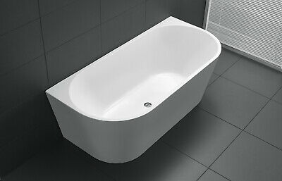 1500Mm Round Back To Wall Bath Free Standing