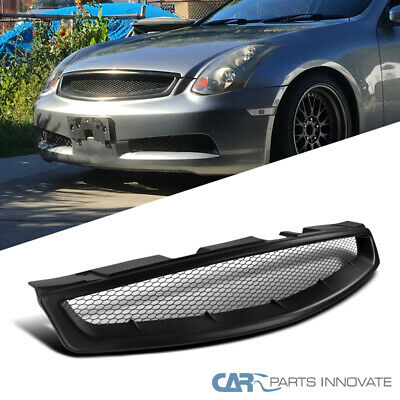 Fit 03-07 Infiniti G35 2Dr Coupe Black ABS Front Hood Mesh Style Grill Grille
