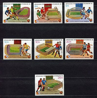 s5702) GUINEA 1982 MNH** WC Football'82- CM Calcio 7v IMPERF