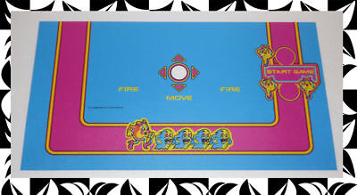 Multicade Ms Pac Man Control panel overlay Without trackball