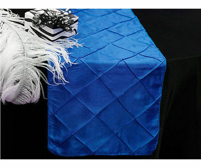 275cm Pintuck Table Runner Royal Blue Wedding Party Table Decoration New