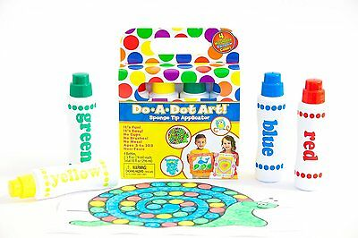 Do-A-Dot Rainbow Markers 4 Pack, Standard packaging(201)Red,Yellow,Green & Blue
