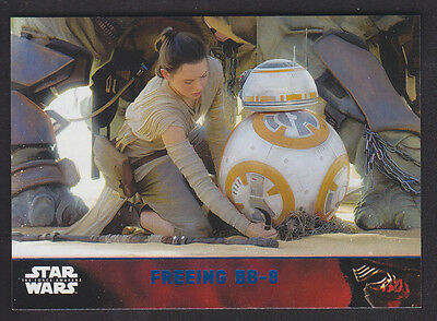 Topps Star Wars - The Force Awakens - Blue Parallel Card # 76