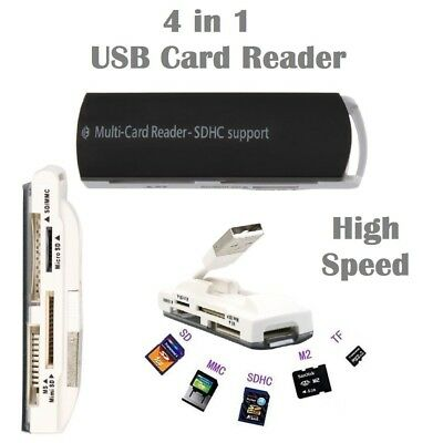 4 in 1 USB 2.0 Multi-Card Reader Support TF M2 T-Flash TF Mirco SD SDHC Card