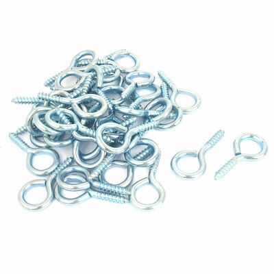40 Pcs Screw Hook Eye for Curtain Net Wire Spiral Cup Hanging Light