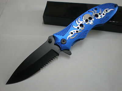 """""""Hell ghost"""" sharp assistant rescue outdoor survival camping hunting  knife"""