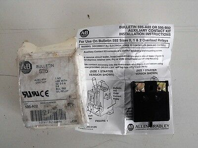 New Allen Bradley 595-A02 Series A Auxiliary Contact