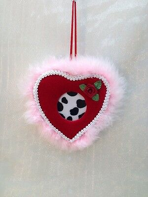 Valentines Day Handcrafted Handmade Heart Shaped Hanging Gift Pink Princess