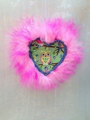 Valentines Day  Heart Handcrafted Handmade Heart-shaped Hanging Gift Owl