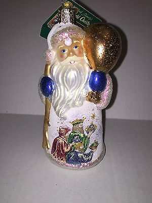Old World Christmas Ornament Glistening Three Wise Men Father Christmas