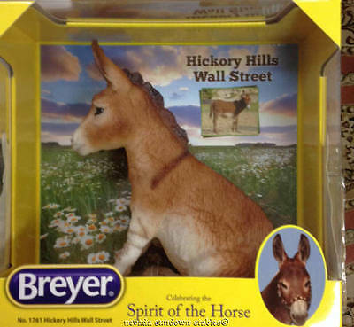 Breyer Creations Sitting Burro Hickory Hills Wall Street