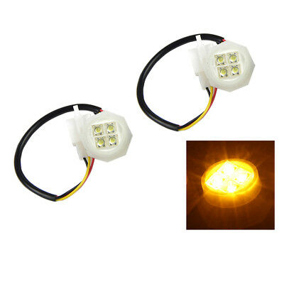 2 Amber LED Hide-Away Flash Strobe Tube Replacement Spare Headlight Bulbs 180W
