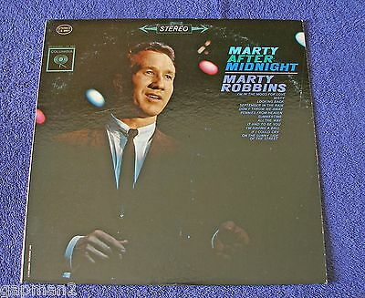 Marty Robbins 1962 original Columbia 6 Eye Stereo LP Marty After Midnight cLEAn!