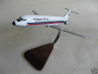 BAC 111 1-11 Philippine Airlines Airplane Desktop Wood Model