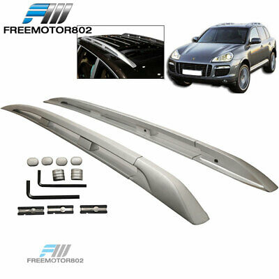 For 03-10 Porsche Cayenne Top Roof Rack OE Style Aluminum Side Rail Bar