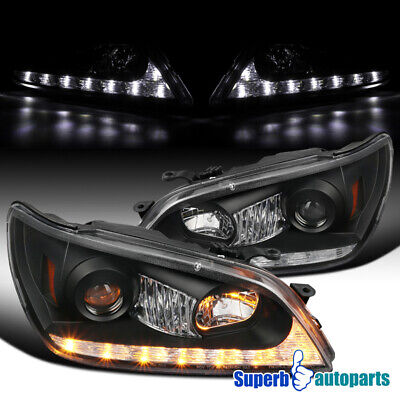 For 01-05 Lexus IS300 Black Projector Headlights w/ LED Signal Strip