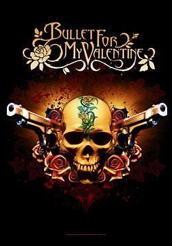 "BULLET FOR MY VALENTINE Heavy Metal band FABRIC POSTER BANNER FLAG 30"" x 40"" New"