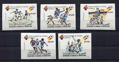 s5761) MALURITANIE 1982 MNH** World Cup Football - CM Calcio 5v IMPERF