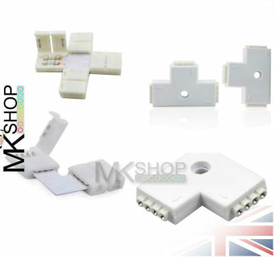 LED Strip Connector 3528/5050/5630 2-4pin RGB Color Straight Corner Adapter Pin