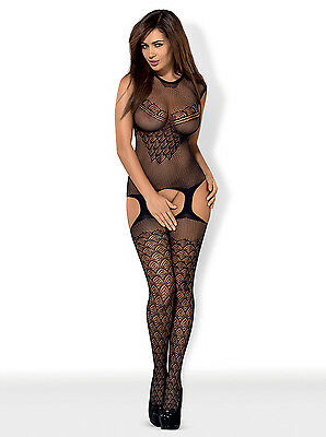 Straps-Bodystocking Straps Body Set Dessous Netzbody Nylonbody Catsuit Overall