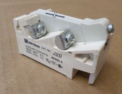 Eaton/Cutler-Hammer J20 Type J Style # 9084A17G02 Auxiliary Contact