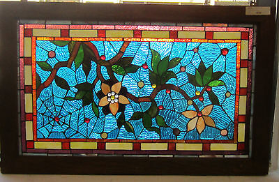 Flower and Spider Web Stain Glass with Hanging Chain - Local Pick Up Only!