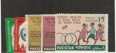 Pakistan, Postage Stamp, #251-254, 260 Mint NH, 1968