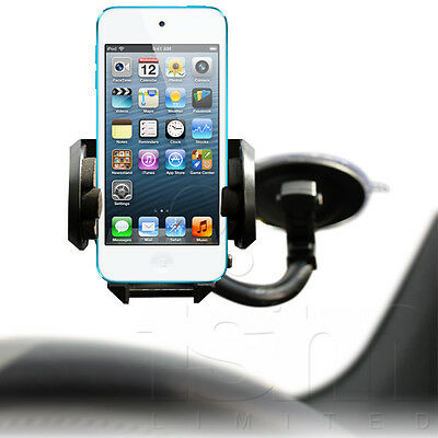 IN CAR WINDSCREEN SUCTION MOUNT HOLDER HOLSTER FOR APPLE iPOD TOUCH 5 5G 5TH GEN