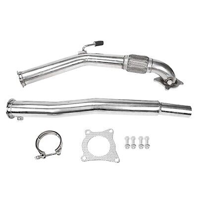 "3""Turbo Catless Downpipe Exhaust Decat Fit For  VW Golf GTi Jetta Audi A3"