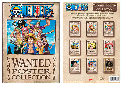 One Piece Wanted 9 Poster Collection Set Ruffy Zorro Nami Chopper Anime Manga