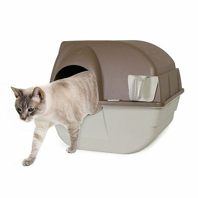 Omega Paw Self-Cleaning Litter Box,Regular,Taupe(RA15)litter box cat supplie NEW