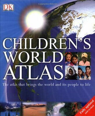 Children's World Atlas by Dorling Kindersley Hardback Book The Cheap Fast Free