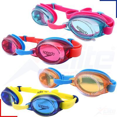 Speedo Jet Junior Swimming Goggles - Boys/Girls Childrens UV Anti-Fog Dive Swim