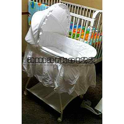 White Baby Moses Bassinet Sweet Beginnings Basket Comfortable Children's NEW