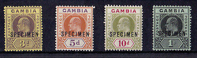 Gambia - 1909 3d to 1/- (MCA) - Mtd Mint - SG 75s-81s