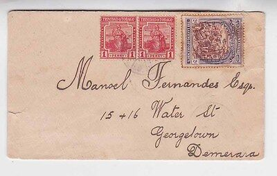 1914 Reg.cover with three stamps to denmark           b1672