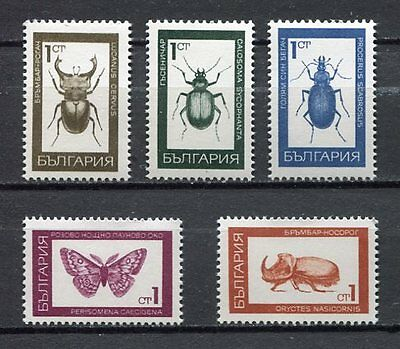 33491) BULGARIA 1968 MNH** Insects 5v Scott #1697/00