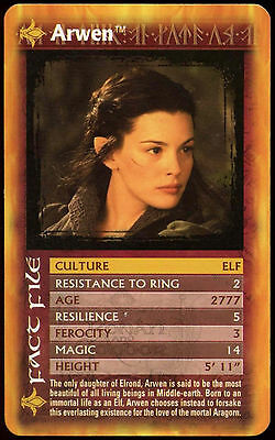 Lord Of The Rings Two Towers - Arwen - Top Trumps Card  (C51)