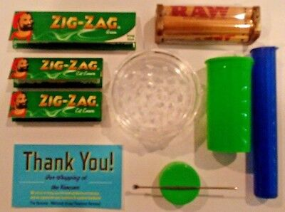 "TRAP Tray Kit -132 Zig Zag Rolling Papers, 3"" Grinder & 3 types of Stash Storage"