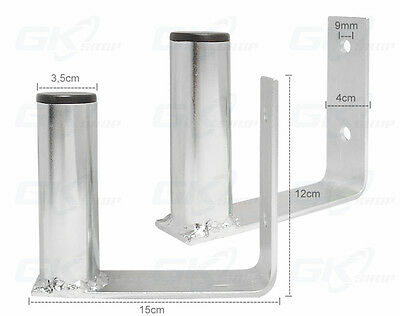 Wall Mounting L Bracket , Distance from the wall 15 cm AERIAL CCTV POLE