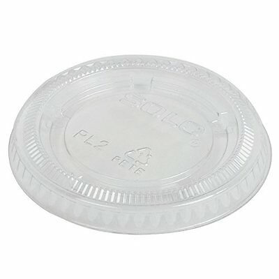 Plastic Soufflé Portion Lids, 2oz, Translucent, 250/Bag